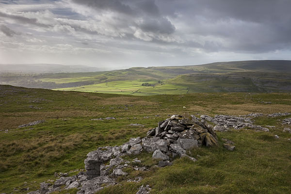 05D-4787 The View West over Twistleton Scar End from White Scars Ingleborough Yorkshire Dales UK