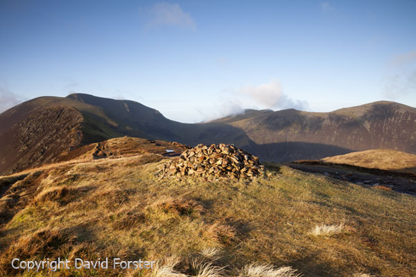 05D-9019 The Ridge Over Scar Crags which Leads to the Mountains of Sail and Crag Hill From Causey Pike in Early Morning Light Lake District Cumbria UK