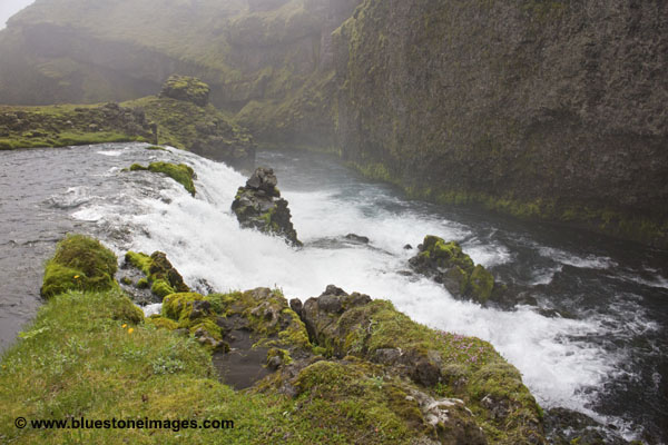 06D-0312 temp Waterfall below the crossing on the Syori-Ofaera River Iceland