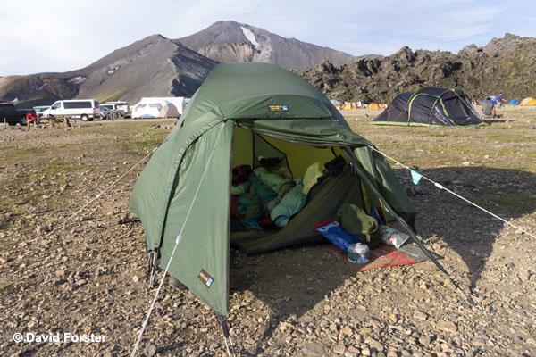 06D-0622 Temp Blahnukur from the Campsite at Landmannalaugar Iceland