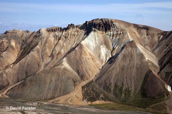 06D-1398 Temp Barmur Mountain Ridge from Kjaftalda Landmannalaugar Iceland