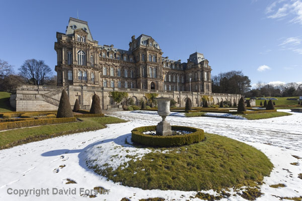 06D-2021 The Bowes Museum in Winter Barnard Castle Teesdale County Durham