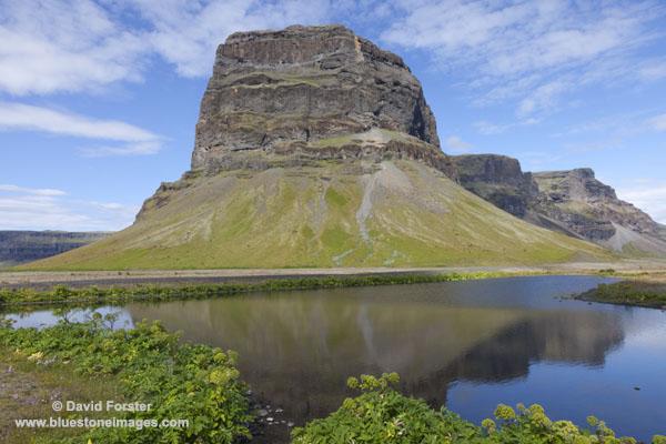 06D-2516 The Mountain of Lomagnupur From the Western Side of Skeioararsandur Flood Plain Skaftafell Area Iceland