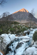 07-4457 Buachaille Etive Mor and the Frozen River Coupall Viewed From Glen Etive Scotland