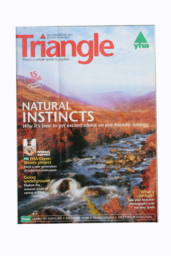 Front Cover:  YHA Triangle Magazine