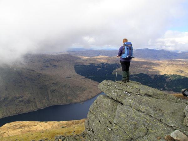 10G-0264 Walker on the Summit of Ben Vorlich Scotland