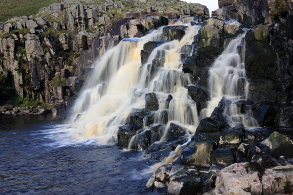 11-6281 The River Tees Flowing over the Lower Fall of Cauldron Snout Upper Teesdale County Durham