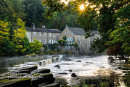 Mill Falls, River Tees, Barnard Castle, Teesdale, County Durham UK.