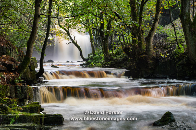 Summerhill Force and Bowlee Beck, Bowlees, Upper, Teesdale, County Durham, UK