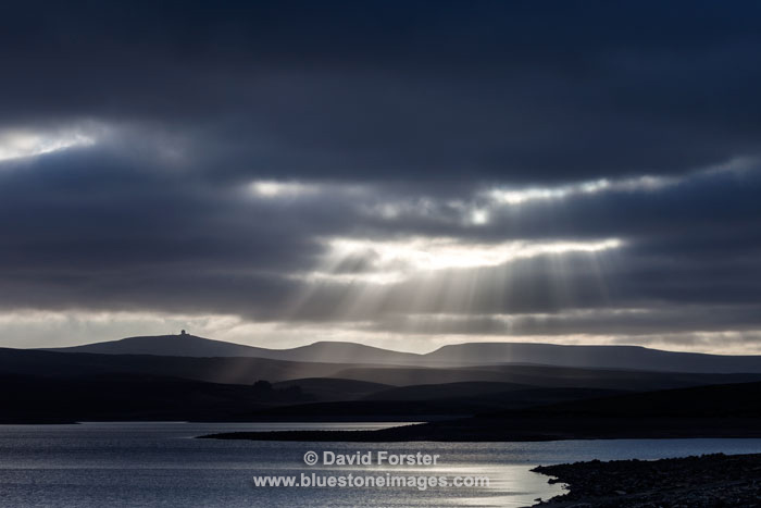 Crepuscular Rays, Cow Green Reservoir, Upper Teesdale, County Durham UK