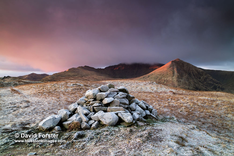 2018-M3-3743 Striding Edge, Helvellyn and Catstye Cam from the North Top of Birkhouse Moor, Lake District, Cumbria, UK