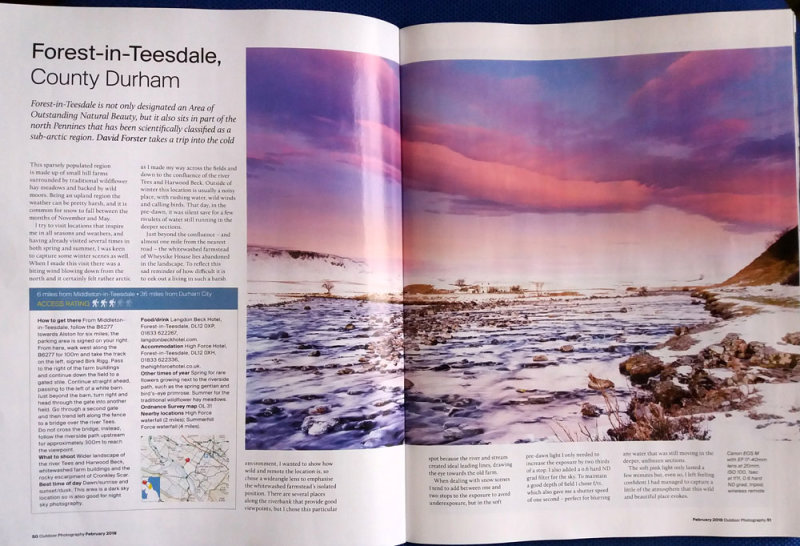Images and Copy for February Issue of Outdoor Photography Magazine