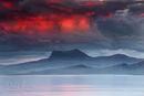 Gloaming Fire and Mist, Beinn Ghobhlach, Highland, Scotland, UK