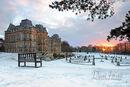 Winter Sunrise at the Bowes Museum, Barnard Castle, County Durham, UK