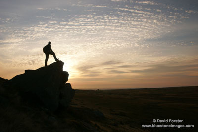 9789 Hill Walker at Sunrise, Goldsborough Crag, Teesdale, County Durham