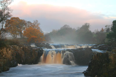 D71.11 Low Force in Morning Mist - River Tees Teesdale, County Durham.