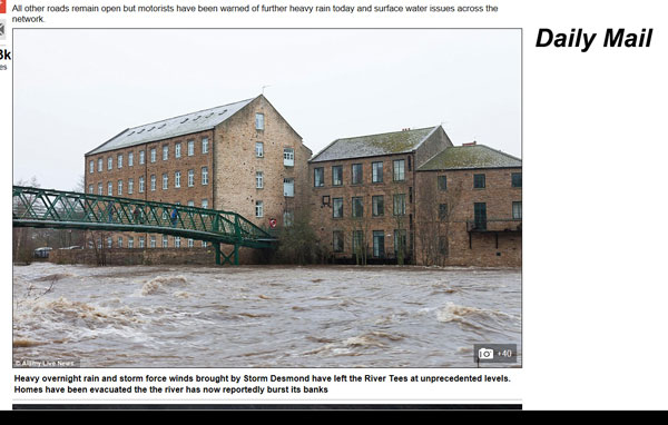 Daily Mail Storm Desmond