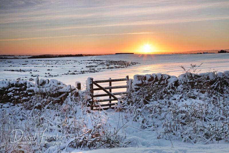 Winter Sunrise, Teesdale, County Durham, UK
