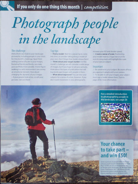 Outdoor Photography Magazine Image used to advertise photo competition