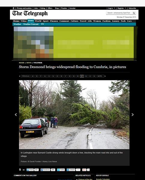 The Telegraph Storm Desmond