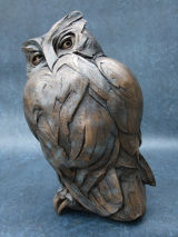 bronze-resin owl 2011 55cm high