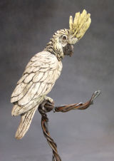 Cockatoo - ceramic on a steel stand