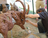 Creating an ibex at Art In Action