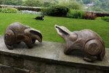 Badgers in stoneware ceramic