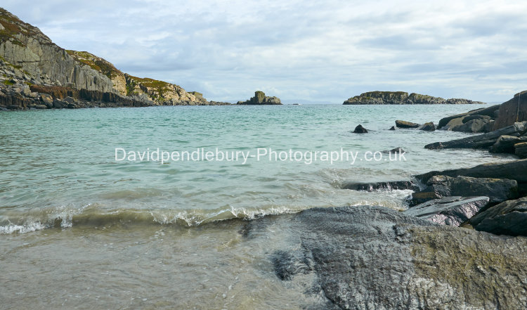 Secluded Beach On The Isle Of Mull Scotland