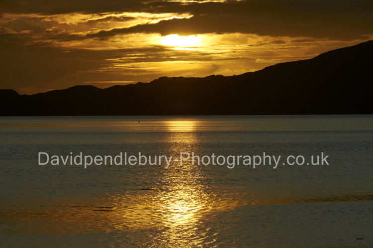 The Isle Of Mull Sunset Over The Water