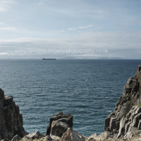 Tanker Off Neist Point Lighthouse Isle Of Skye