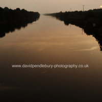 Sunset At Moore Lane Bridge Moore Warrington
