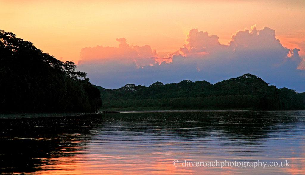 Dawn on the Rio Madre de Dios