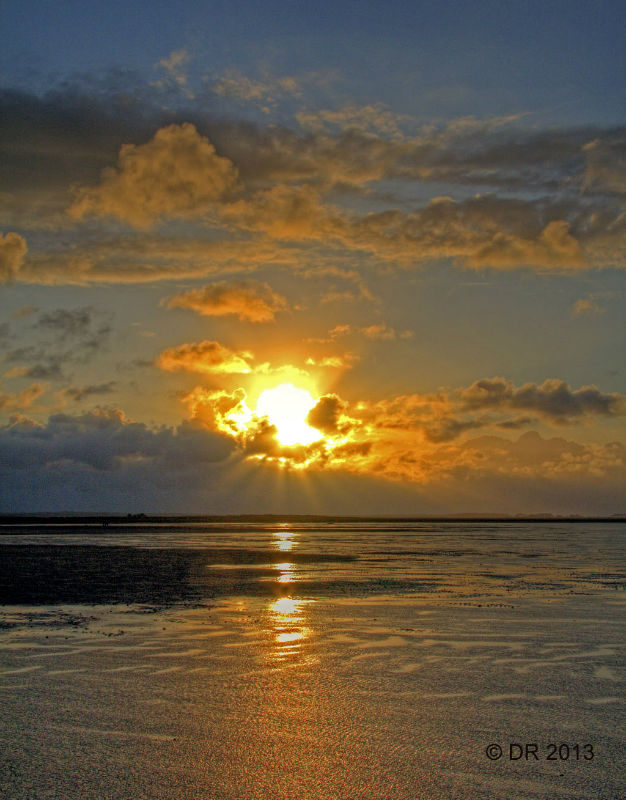 (3) Sunset over the marsh (HDR image)