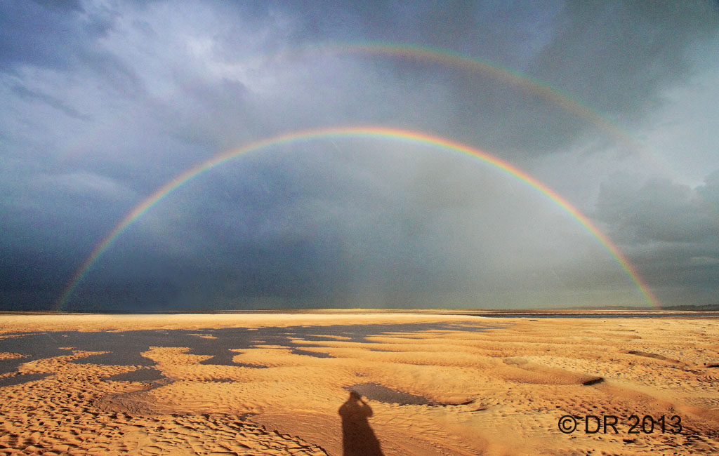Rainbows over Stiffkey Marsh (2)