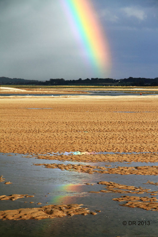 (1) Rainbows over Stiffkey Marsh