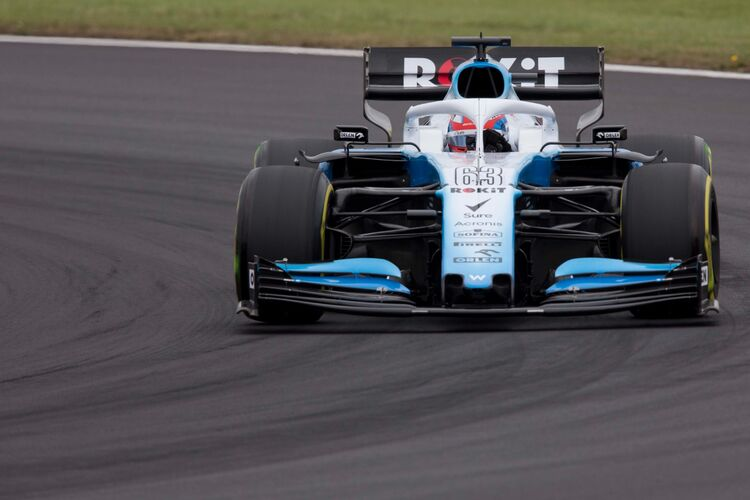 George Russell in the Williams car at Silverstone 2019