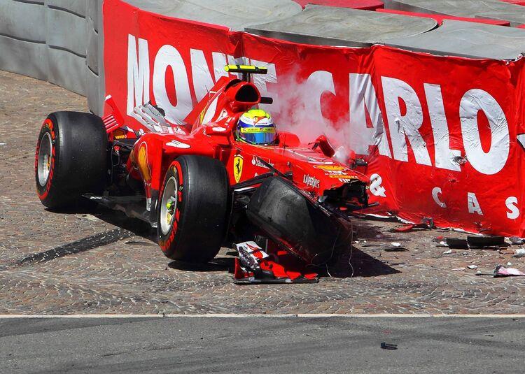 Felipe Massa - Ferrari crashing @ Monaco 2013