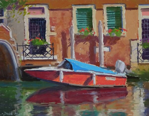 The Red Boat, Venice 10inx12in £650