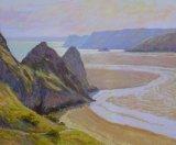 Three Cliffs Bay, Gower Peninsula 20x24