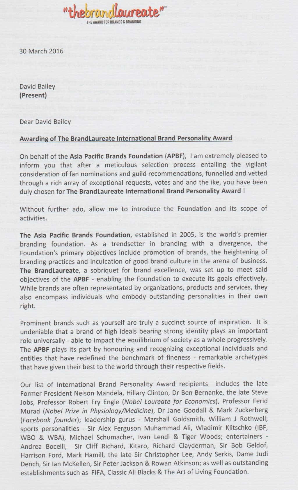 BrandLaureate Citation Page 1