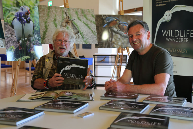 Myself and Bill Oddie while filming at the Etches Collection, Kimmeridge, Dorset.