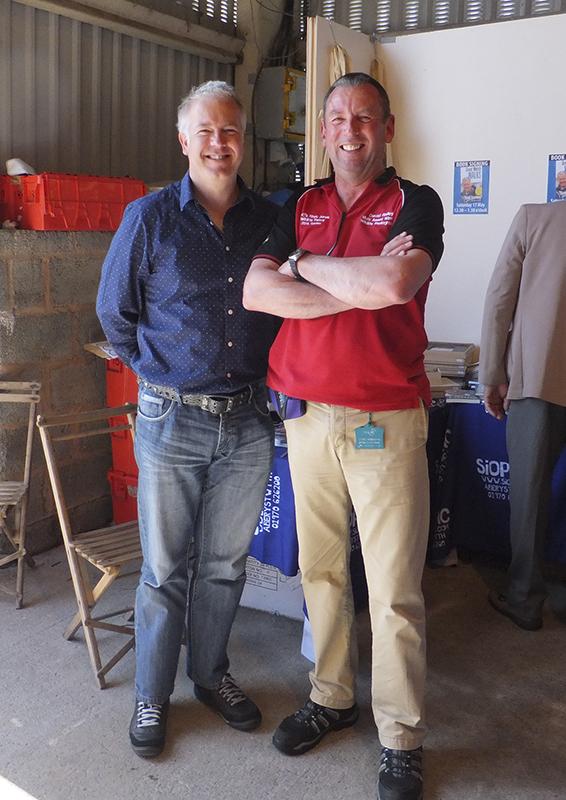With BBC Wales Weatherman Derek Brockway