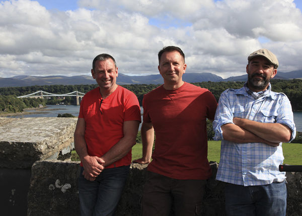 Filming for the 2014 series of Rhys Jones Wildlife Patrol from the left, myself, Rhys & series Producer Ian Durham