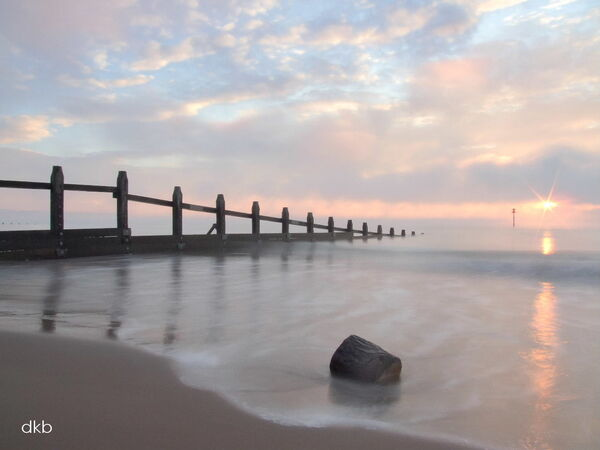 Pastel sunrise Dawlish Warren