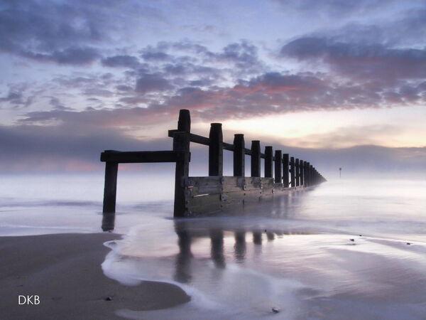 Sub-zero dawn Dawlish Warren, South Devon