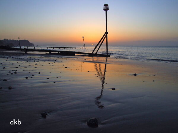Sunrise Teignmouth Sands.