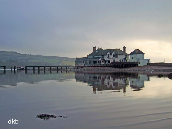 Misty morning Coombe Cellars, Teign Estuary.