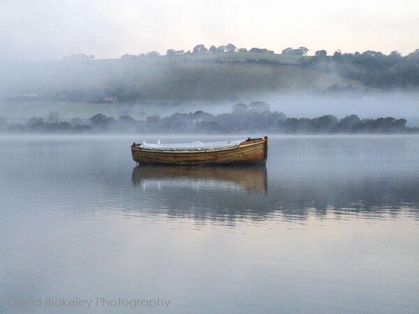 Misty morning Combeinteignhead, Teign Estuary