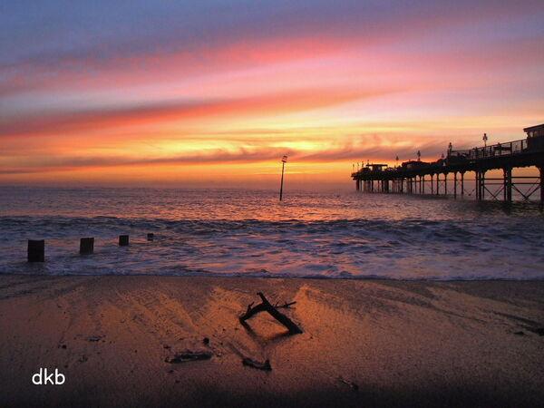 Sunrise Teignmouth Grand Pier.